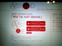 We're not alone ダウンロードスタート  =TAKESHI=